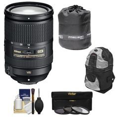 Nikon 18-300mm f/3.5-5.6G VR DX ED AF-S Nikkor-Zoom Lens + UV/ND8/CPL Filters + Backpack Kit for D3200, D3300, D5300, D5500, D7100, D7200 DSLR Camera