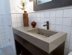 Contemporary concrete bathroom vanity sink by Trueform Concrete. #TrueformConcrete #OurSinks