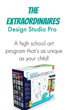 An affordable high school art curriculum that's as unique as your kid! Design Studio Pro review - HomeschoolGameschool.com