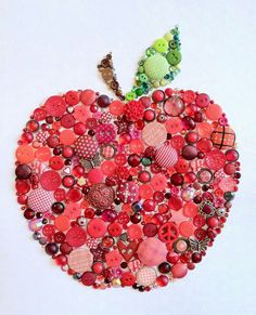 Button Art - Apple for the Teacher - Apple Swarovski Button Art by BellePapiers http://www.etsy.com/listing/158266925/8x10-teacher-button-art-apple-for-the?ref=shop_home_active
