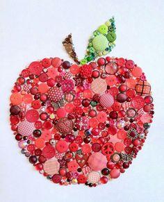 Button Art Idea - Love it for a teacher.