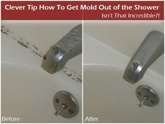 Getting mold out of the shower