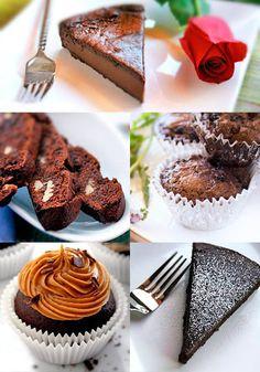 Gluten-Free Goddess Recipes: Gluten-Free Chocolate Recipes for Love + Valentine. Gluten Free Sweets, Gluten Free Chocolate, Gluten Free Cooking, Chocolate Recipes, Gluten Free Recipes, Chocolate Muffins, Gf Recipes, Vegan Chocolate, Sin Gluten