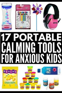 6 coping skills and 17 effective tools to include in your child's calm down kit to help regulate emotions at home, school, or on the go! Anxiety Coping Skills, Anxiety Tips, Anxiety Help, Emotional Regulation, Self Regulation, Calm Down Kit, Calm Down Corner, Child Life Specialist, Calming Activities