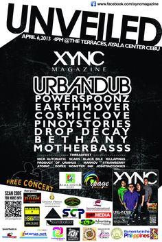 Ayala Center Cebu, Bethany, CosmicLove, Drop Decay, Earthmover, Free Concert, MotherBasss, Pinoystories, Powerspoonz, The Terraces, Unveiled, Urbandub, Xync Magazine