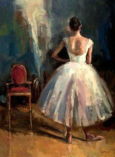 Dancer with Chair - Lisa Noonis Ballet Art, Ballet Dancers, Painting Inspiration, Art Inspo, Ballerina Kunst, Ballerina Painting, Beautiful Paintings, Figure Painting, Figurative Art