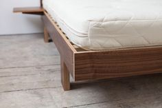 Neat Detailing On The Metro Bed Frame Manufactured And Designed Here In Plymouth Using Walnut