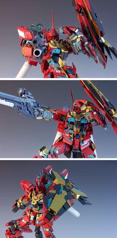 MG 1/100 Unicorn Gundam 03 Neo Zeon Full Frontal - Customized Build     Modeled by Redbrick