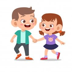 Happy Cute Kid Play With Friend Together Brother And Sister Fight, Happy Rakhi, Friend Together, School Clipart, Dibujos Cute, Paper Crafts Origami, Cartoon Kids, Happy Kids, Cute Drawings