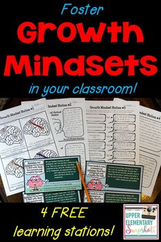 Foster growth mindsets within your students this year with these four FREE learning centers!