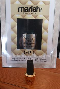 OPI Gold and silver leaf top coat by polishinfatuated, via Flickr