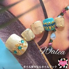 エスニックなフットネイルチ(Walea) 夏フットネイル