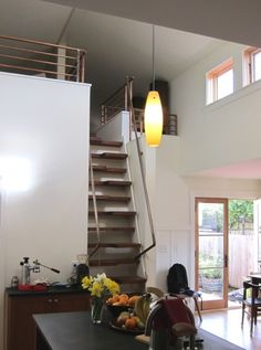 Loft stairs front view