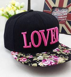 ca998f254a1e4 ... COKK Flower Baseball Cap Women Embroidery Letter Lover Cap Hip Hop  Snapback Hats For Women Men Bone Female Male Flat Brim Gorras from Reliable  snapback ...