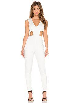 ac2ef0f2328f Plunge Front Jumpsuit White Jumpsuit
