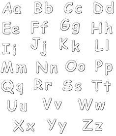 Letras del abecedario minusculas para imprimir - Imagui