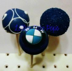 I thought we'd seen enough photos of BMW cakes. But then I found these. Edible BMW Cake Pops. YUM!