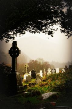 Glendalough Cemetary, co Wicklow, Ireland by Mandy Stansberry Photography. Places To Travel, Places To See, Old Cemeteries, Graveyards, Emerald Isle, Ireland Travel, British Isles, Dream Vacations, Dublin