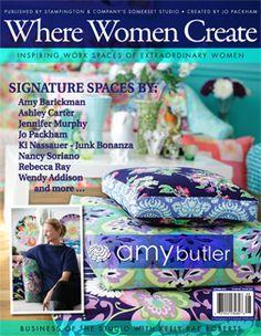 Where Women Create #blog #magazine #creative spaces