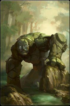 Stone golem or maybe an earth elemental
