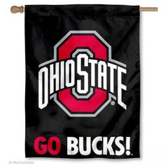 Ohio State Buckeyes GO BUCKS House Flag measures 28x42 inches, is made of polyester, provdes a top hanging sleeve, and offers screen printed college logos...