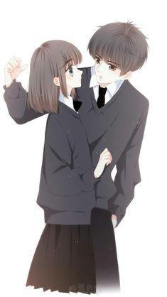 Con tim rung động Love Cartoon Couple, Chibi Couple, Cute Couple Art, Manga Couple, Anime Love Couple, Cute Couples, Anime Cupples, Anime Chibi, Kawaii Anime