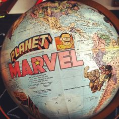 Vintage Planet Marvel Superhero Globe