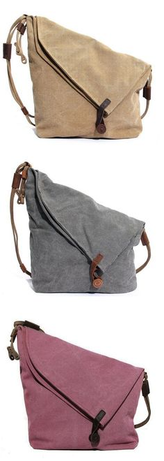 Women Vintage Messenger Bag Genuine Leather Canvas Crossbody Bag Tribal Rucksack is designer, see other cute bags on NewChic. Mochila Jeans, Vintage Messenger Bag, Diy Messenger Bag, Canvas Crossbody Bag, Do It Yourself Fashion, My Bags, Purses And Handbags, Leather Bag, Leather Purses