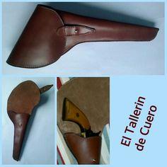 Funda para revolver hecha a medida en cuero. Hecho a mano. Handmade Facebook.com/ El tallerin de cuero. Artesania Paloma