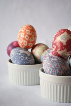 So pretty.... Silk Dyed Easter Egg Kit  Easy Tidy Fabulous by thejunebride