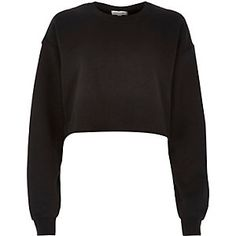 Black cropped jumper