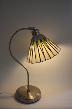 Art Deco Lamp door WaenzinnigGlas op Etsy
