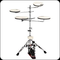 Go Anywhere™ 5-Piece Practice Set. Never again will you have to be without the ability to practice. The 5-piece portable Go Anywhere™ Complete Practice Set allows you to sharpen your independence, groove, and coordination without bothering others. Notable features include heavy duty construction, natural feel and rebound, and easy setup. #drummergiftideas #drummergifts