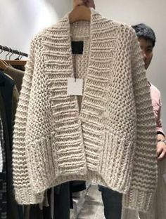 2019 Women's V-neck Solid Color Thick-Knit Cardigan Loose Long-sleeve Sweater Chunky Knit Cardigan, Sweater Cardigan, Chunky Knits, Chunky Oversized Sweater, Loose Knit Sweaters, Pullover Sweaters, Cardigan Outfits, Knit Crochet, Sweaters For Women