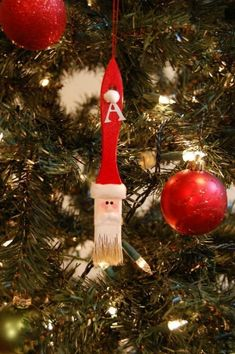 pincel con cara de Santa Claus