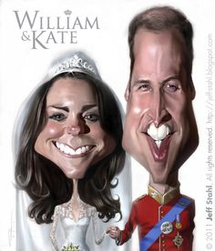 William & Kate ..FOLLOW THIS BOARD FOR GREAT CARICATURES OR ANY OF OUR OTHER CARICATURE BOARDS. WE HAVE A FEW SEPERATED BY THINGS LIKE ACTORS, MUSICIANS, POLITICS. SPORTS AND MORE...CHECK 'EM OUT!!
