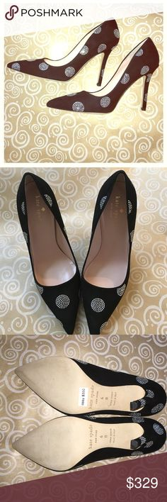"""❤️GORGEOUS, BRAND NEW Kate spade pumps! ><<<top 10% seller >>KATE SPADE -Never worn. Bought them at Kate Spade and forgot to return them before it was too late so that's the only reason I have them still is because I don't want store credit at rather sell it on my beloved posh as you can tell they're in perfect condition never worn and they have circly silver gem detail...so stunning. 3"""" heel.  Super comfortable. Only tried on, never worn! kate spade Shoes Heels"""