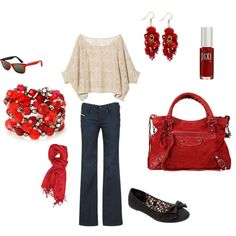 Your everyday FL winter outfit, spiced up with red!  Or would look even better with orange!  ;-)