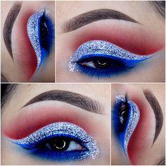 Trendy Makeup Morenas Fantasia 56 Ideas Makeup Ideas 4 of july makeup ideas Makeup Goals, Makeup Inspo, Makeup Art, Makeup Inspiration, Beauty Makeup, Makeup Ideas, Makeup Hacks, Makeup Tips, Captain America Makeup