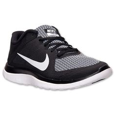 Women's Nike Free 4.0 V4 Running Shoes| Finish Line | Black/White/Wolf Grey - I LOVE these shoes and want them bad - $79.99
