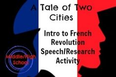 Introduction to the French RevolutionStudents will build their own knowledge on the background of A Tale of Two Cities by preparing and presenting an entertaining and informative speech on a topic relevant to the French Revolution.This bundle includes:1.