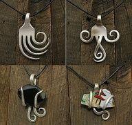 Fork necklaces