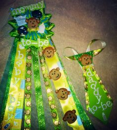 Boy Baby Shower Mum - Monkey Theme i would change the colors to blue and brown