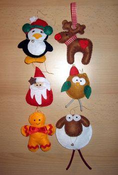 Karácsonyfa díszek filcből My Works, Christmas Ornaments, Holiday Decor, Home Decor, Xmas Ornaments, Decoration Home, Christmas Jewelry, Christmas Ornament, Interior Design