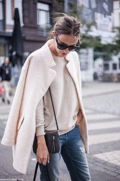 nice Street Style : Tendances : manteau blanc