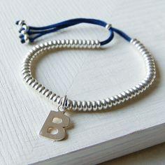 Personalised Friendship Bracelet - Navy £20.00 - Bracelets and Bangles - Friendship Bracelets Buy, Engraved Silver Jewellery, Personalised Mens, Womens Gifts, Online, UK