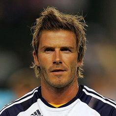 David Beckham Messy Long Hair