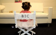 Blue Ivy Carter sitting in her personalized kid's director's chair from Everywhere Chair!! From Beyonce's tumblr