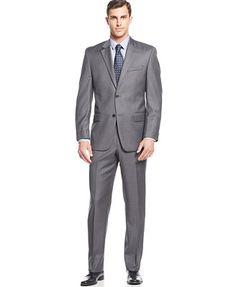 MICHAEL Michael Kors Solid Grey Suit