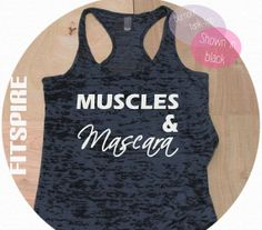 Muscles & Mascara / Black Racer Back Tank Top Shirt / Black  Tank Top  / Womens Burnout Tank Top / Workout Tank Top / Active Wear Tank